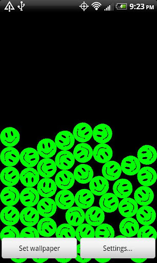 Free PowerSmileysLiveWallpaper