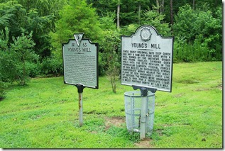 Two Young's Mill markers at the site of the Mill in Newport News, VA