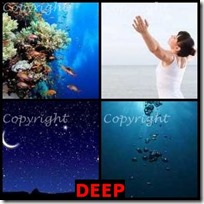 DEEP- 4 Pics 1 Word Answers 3 Letters