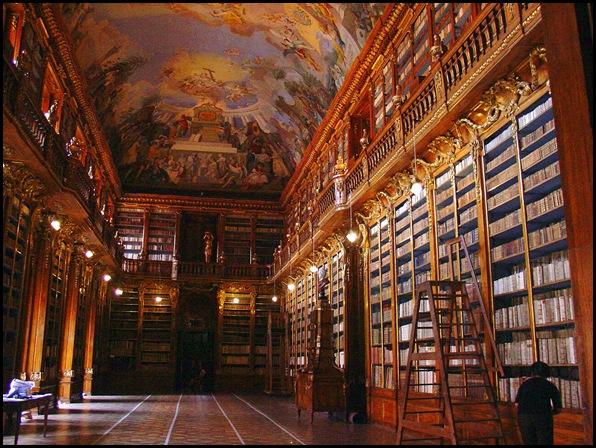 Monastère de Strahov - Bibliothèque théologique, Prague, République tchèque -3
