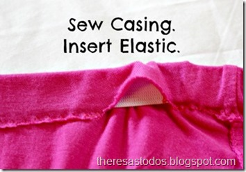 Sew Casing and Insert Elastic