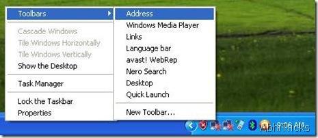 Add URL bar to Task bar
