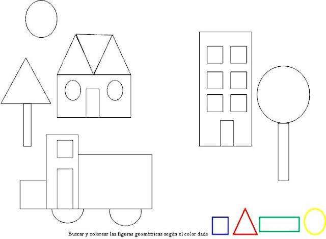 Dibujos de figuras geometricas para colorear for Las formas geometricas