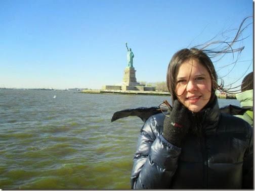 Meu selfie com a Estátua da Liberdade