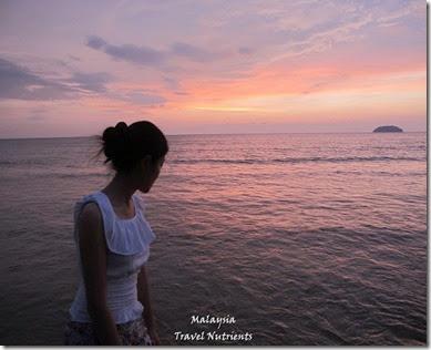 沙巴亞庇丹容亞路海灘夕陽 Perdana Park音樂水舞 (17)