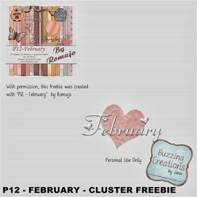 Romajo - P12 February - Cluster Freebie Preview