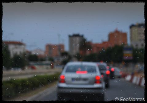 lluvia en coche