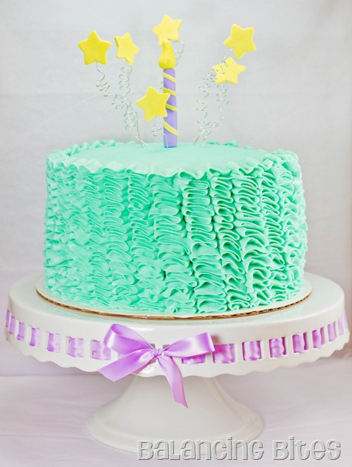 Vertical Ruffle Birthday Cake