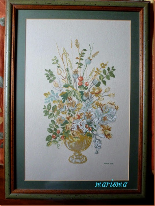 cuadro  con flores otoñales copia