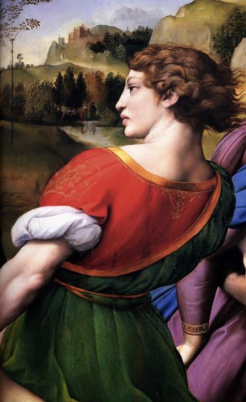santo entierro detalle 2, ¿tal vez un retrato póstumo de Grifonetto Baglioni?