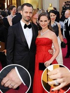 Natalie Portman & Benjamin Millepied Wear Matching Rings