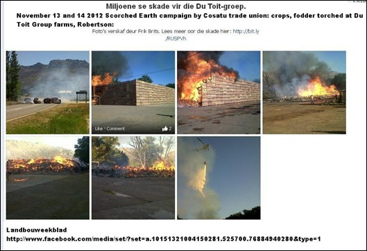 DE DOORNS ROBERTSON DUTOITFARMS TORCHED NOV14 AND NOV 13