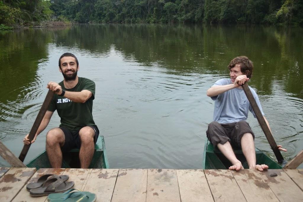 David Kellner and Andrew Peabody on Soledad Lake