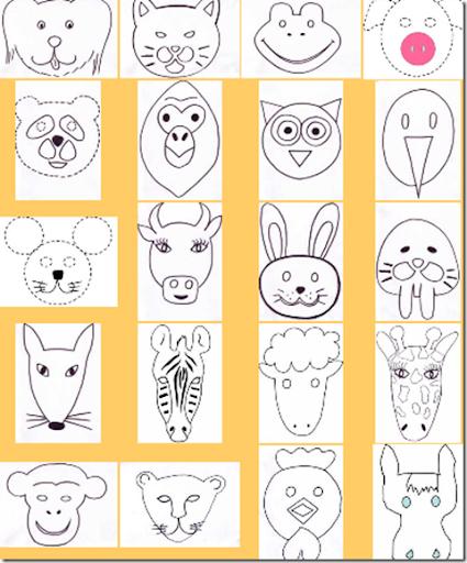 Máscaras de animales para colorear y usar | Aires de Fiesta