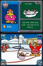 O puffle rosa Loop no Ice Rink