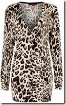 Oui Leopard Print Cardigan