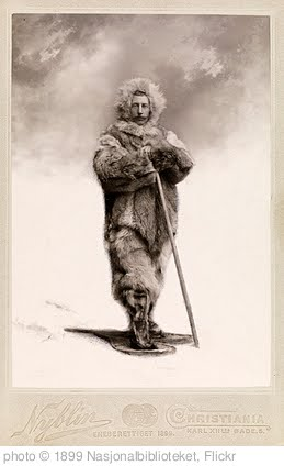 'Portrett av Roald Amundsen, juni 1899' photo (c) 1899, Nasjonalbiblioteket - license: http://creativecommons.org/licenses/by/2.0/