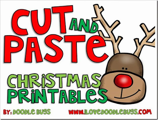 Doodle Bugs Teaching {first grade rocks!}: Christmas Cut and Paste ...