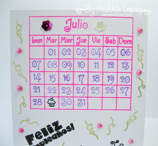 Feliz cumpleaños Card - Happy Borthday Card - Sellos en español - Color Paws - Ruthie Lopez - My Hobby My Art 2