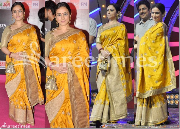 Yellow_Embroidery_Silk_Saree