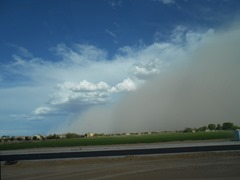 Dust moving into Phoenix