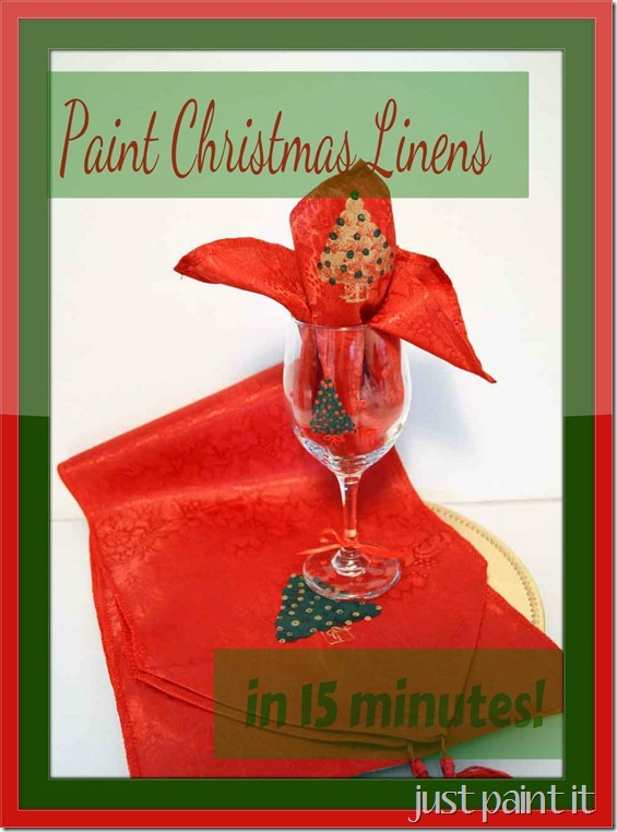 paint Christmas linens