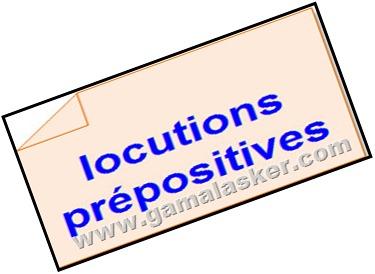 locutions prépositives