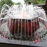 cute little fountain at the N Seoul tower in Korea in Seoul, Seoul Special City, South Korea
