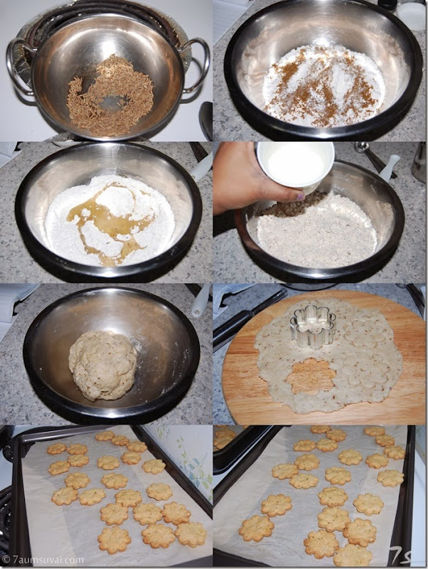 Salted cumin cookies process