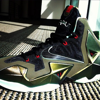 nike lebron 11 xx first look 2 01 Another Look at the Nike LeBron XI (11) Army Slate