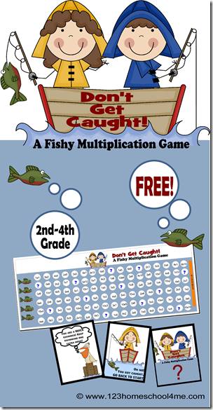 Don't Get Caught is a cool math games for 2nd-4th graders to practice multiplication #math #homeschool #education #mathgames