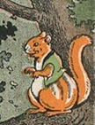Striped Chipmunk, illustrated by Harrison Cady