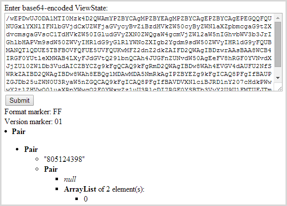 Pasting view state into the decoder
