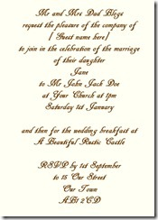 invite formal