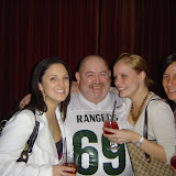 Brad Oaks from Hey Hey It's Saturday and Mix FM in Ranger wear with some lovely ladies
