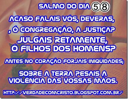 SALMO DO DIA 58