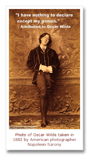 Oscar Wilde I Have Nothing To Declare Except My Genius B D
