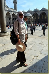 Istanbul Blue Mosque Lady