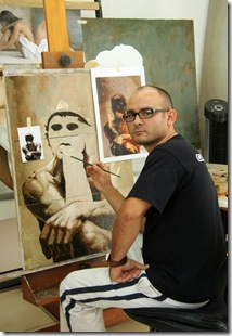 pintando-el-pensador