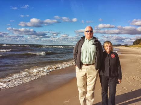 Mom & Dad Lake Michigan