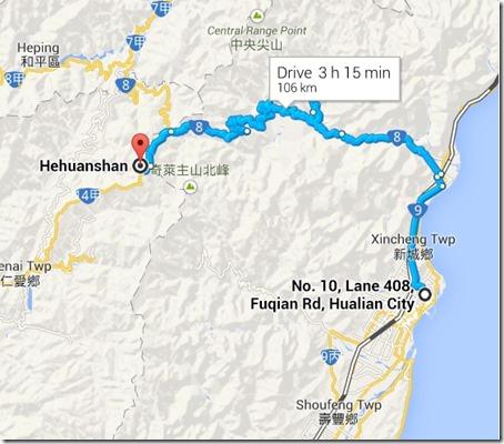 huhuanshan map