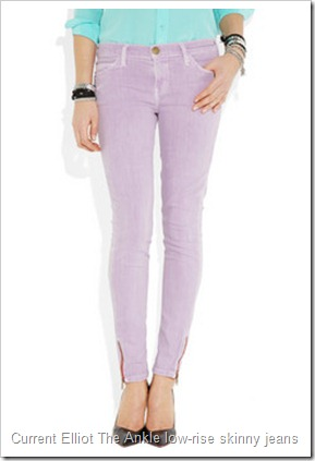 Current Elliot The Ankle low-rise skinny jeans