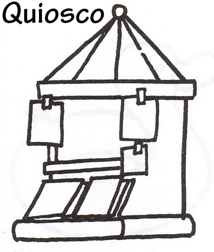 Colorear quiosco - Imagui