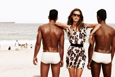 Alessandra Ambrosio @ DNA + Will Chalker @ NY Models + Tony Ward @ DNA by Matt Jones for Boss Orange S/S 2012 campaign.