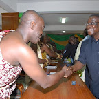 tn_Dormaahene Osagyefo Agyeman Badu takes turn to welcome Prez Mills to Hse of Chiefs.JPG