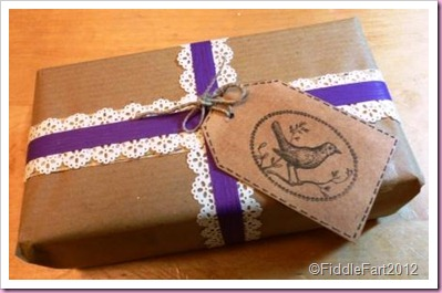 Kraft Paper and Tag gift wrap