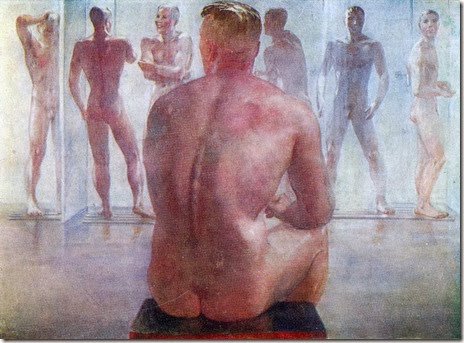 alexandr deineka- shower after the battle
