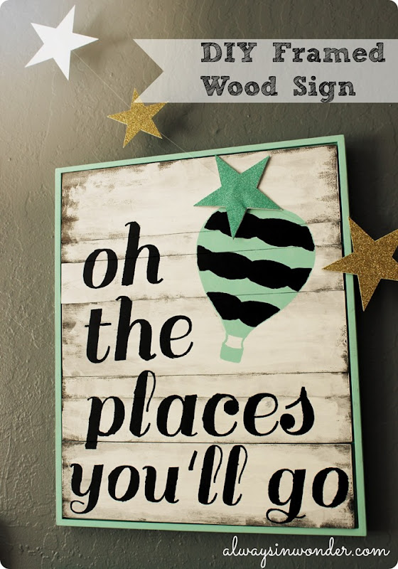 DIY FRAMED WOOD SIGN