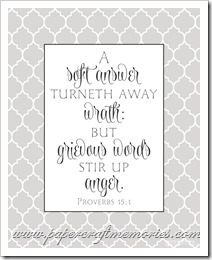 Proverbs 15:1 printable 8 x 10 WORDart by Karen for personal use
