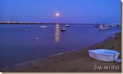 Ria Formosa Nascente com a lua